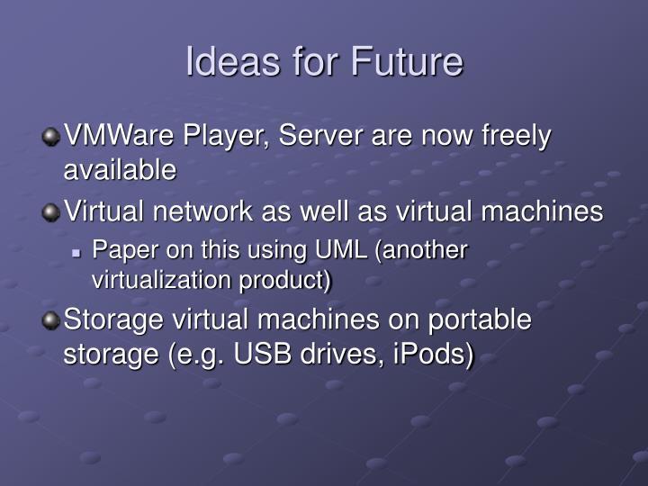 Ideas for Future