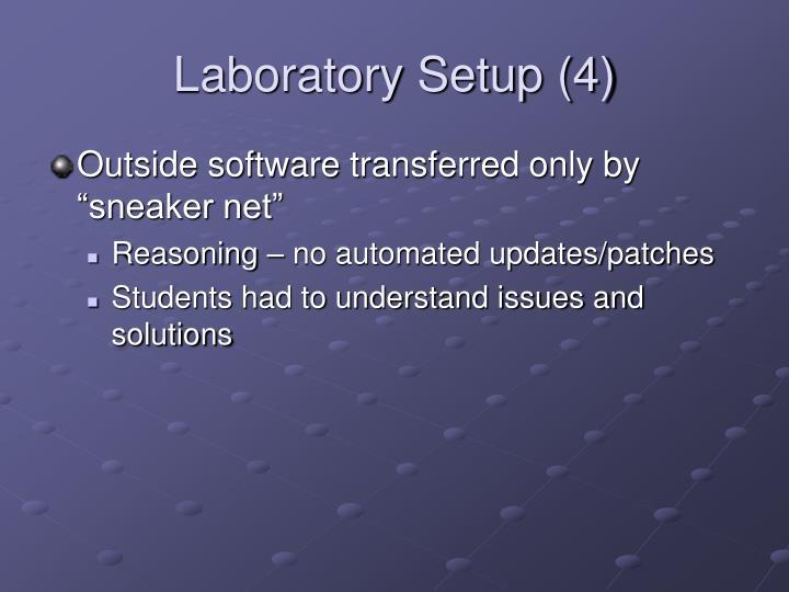 Laboratory Setup (4)