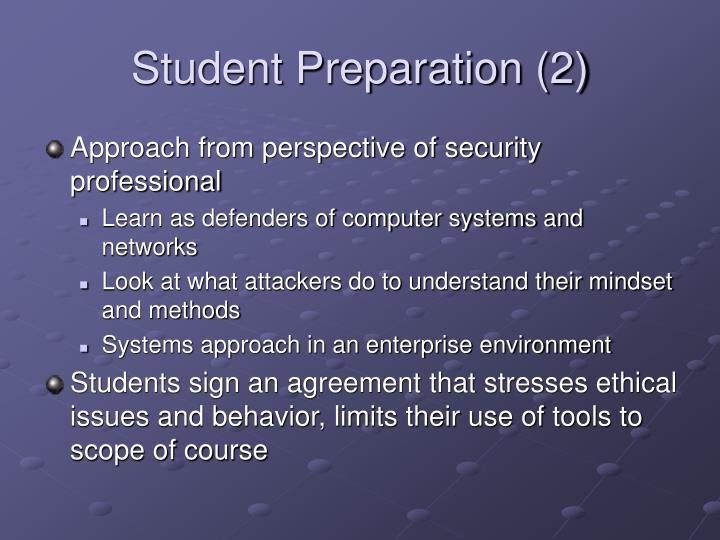 Student Preparation (2)