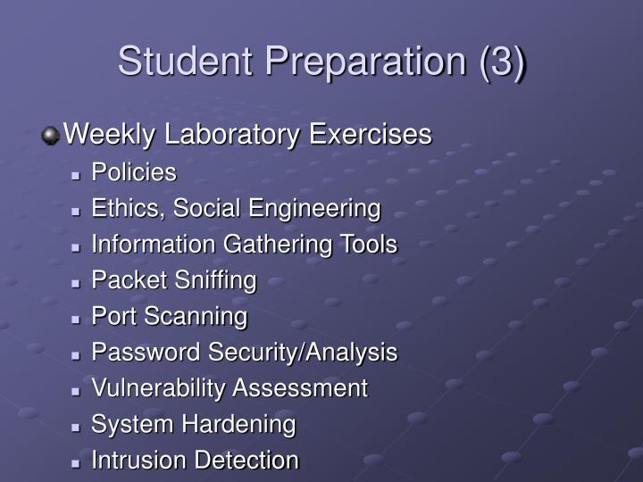 Student Preparation (3)