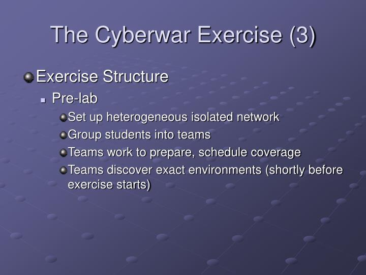 The Cyberwar Exercise (3)