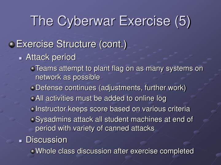 The Cyberwar Exercise (5)
