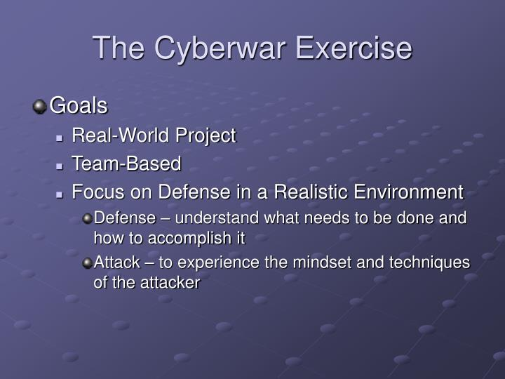 The Cyberwar Exercise