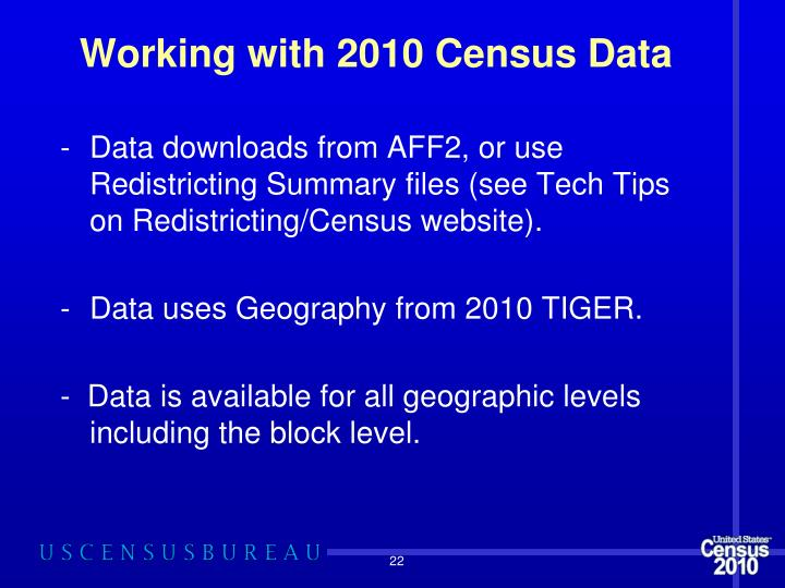 Working with 2010 Census Data