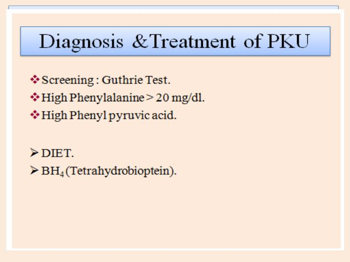 Clinical features of PKU