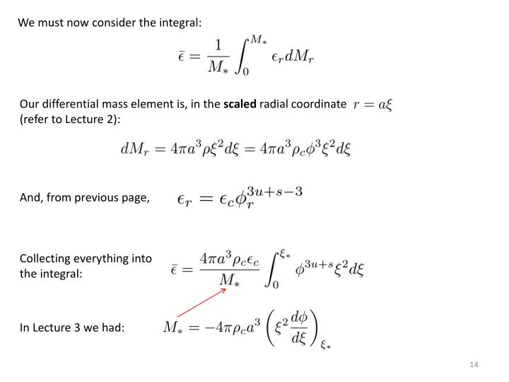 We must now consider the integral: