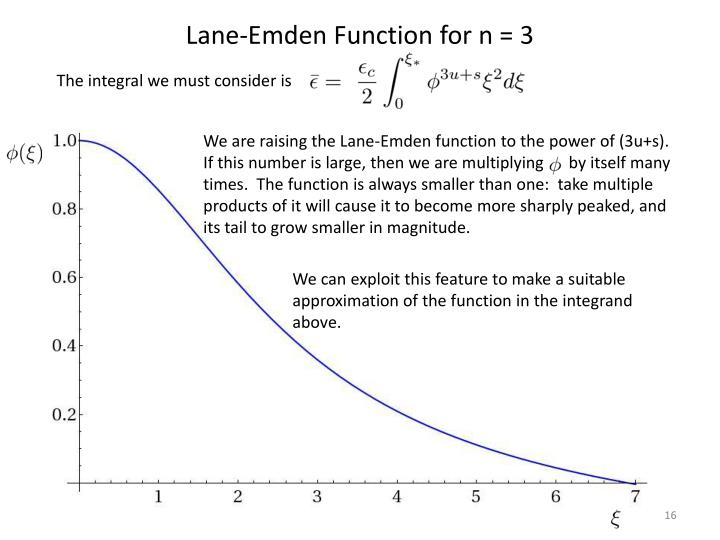 Lane-Emden Function for n = 3