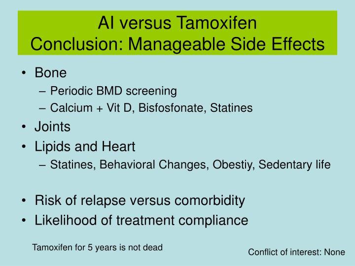 AI versus Tamoxifen