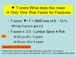 t score what does this mean only one risk factor for fractures