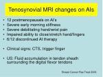 tenosynovial mri changes on ais