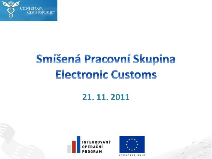 Sm en pracovn skupina electronic customs