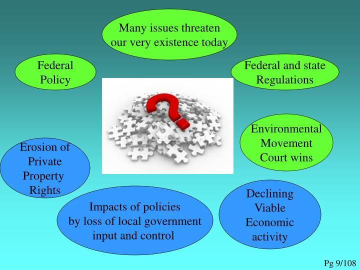 Many issues threaten