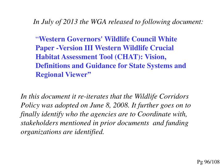 In July of 2013 the WGA released to following document: