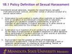 1b 1 policy definition of sexual harassment