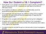 how do i submit a 1b 1 complaint