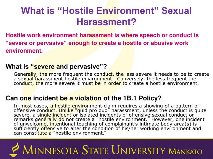 "What is ""Hostile Environment"" Sexual Harassment?"