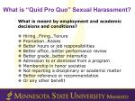 what is quid pro quo sexual harassment1