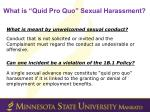 what is quid pro quo sexual harassment2