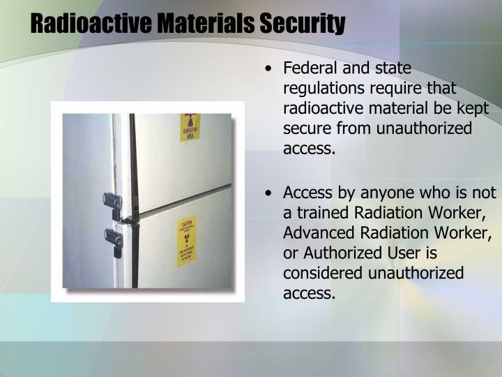 Radioactive Materials Security