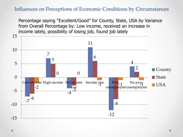 Influences on Perceptions of Economic Conditions by Circumstances