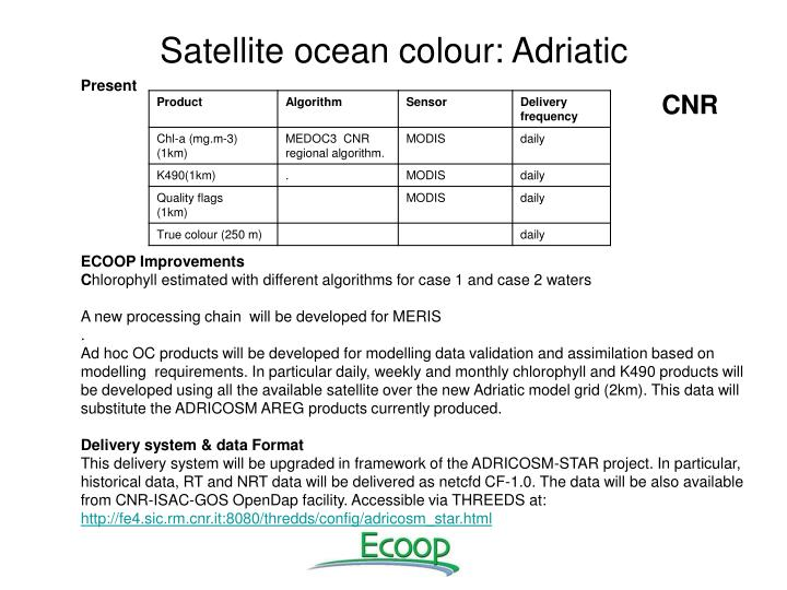 Satellite ocean colour: Adriatic