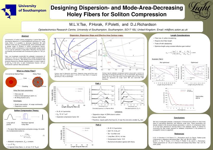 Designing Dispersion- and Mode-Area-Decreasing Holey Fibers for Soliton Compression