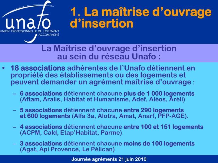 18 associations