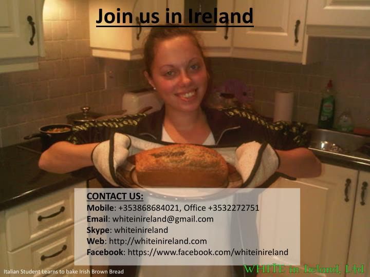 Join us in Ireland