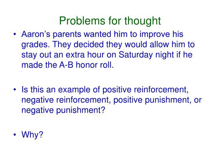 Problems for thought