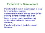punishment vs reinforcement