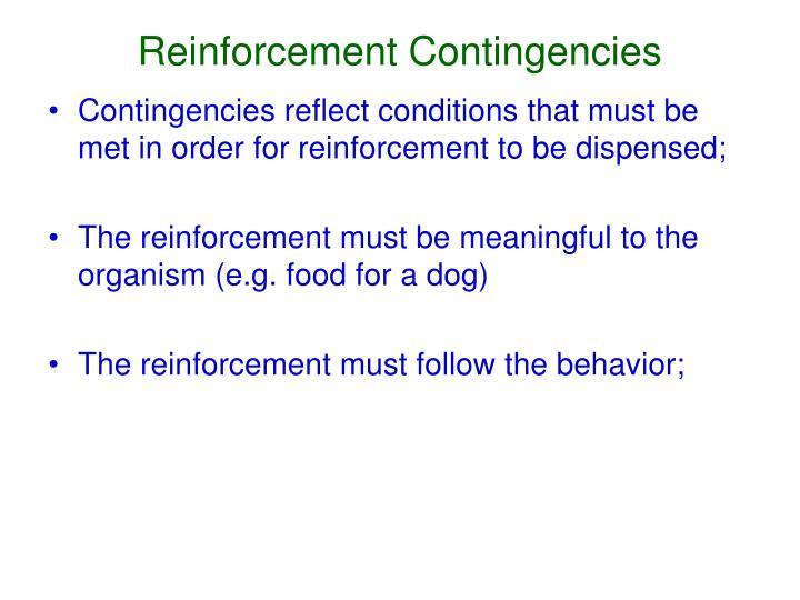 Reinforcement Contingencies