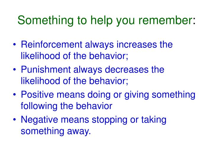Something to help you remember