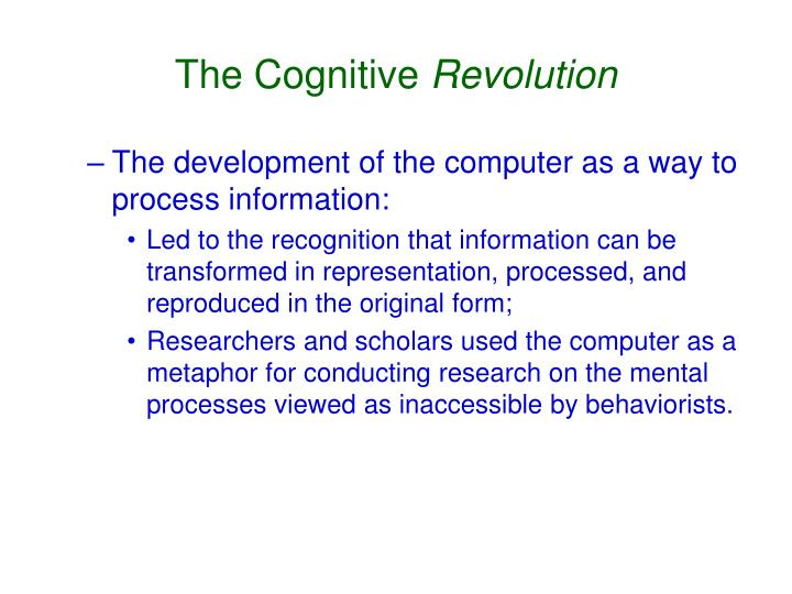 The Cognitive