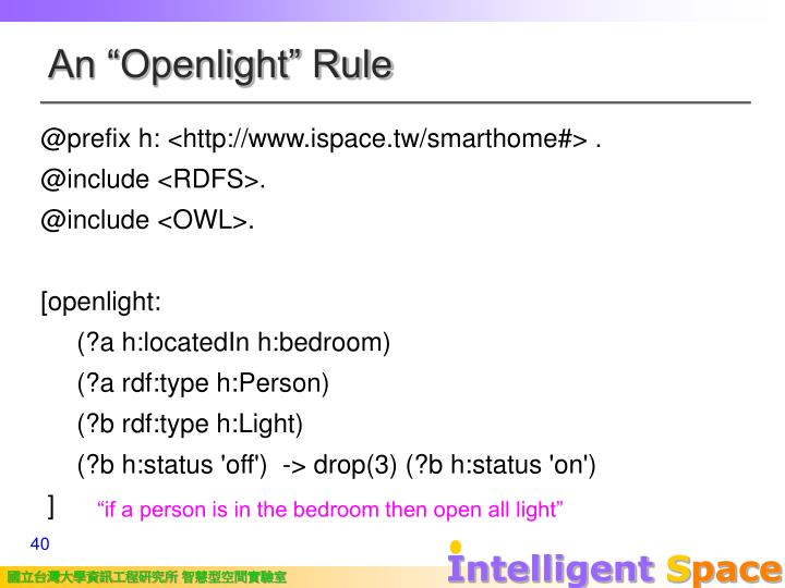 "An ""Openlight"" Rule"