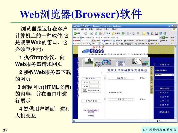 浏览器软件的用户界面