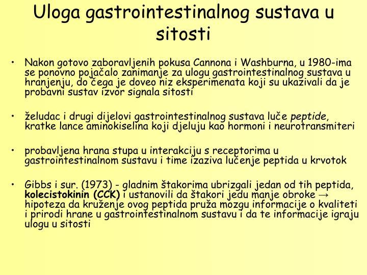 Uloga gastrointestinalnog sustava u sitosti