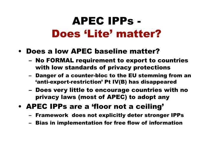 APEC IPPs -
