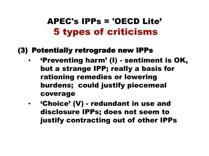 APEC's IPPs = 'OECD Lite'