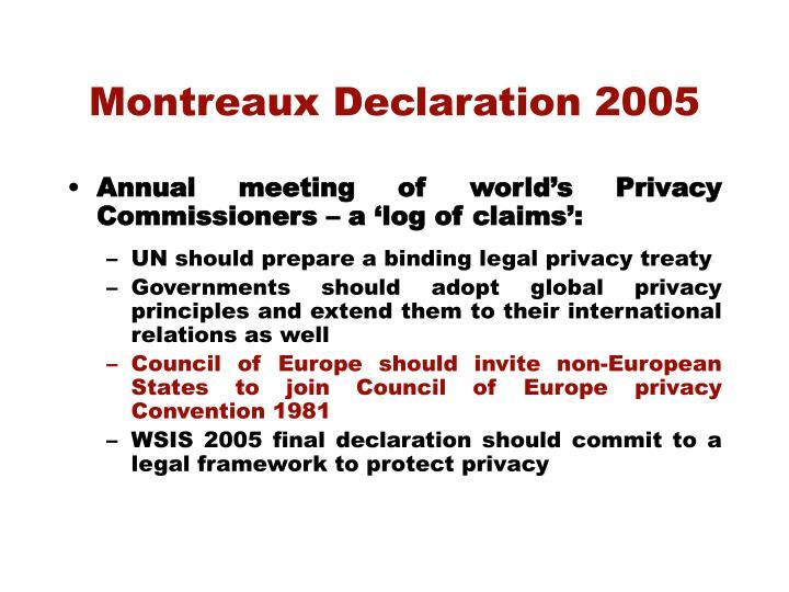 Montreaux Declaration 2005