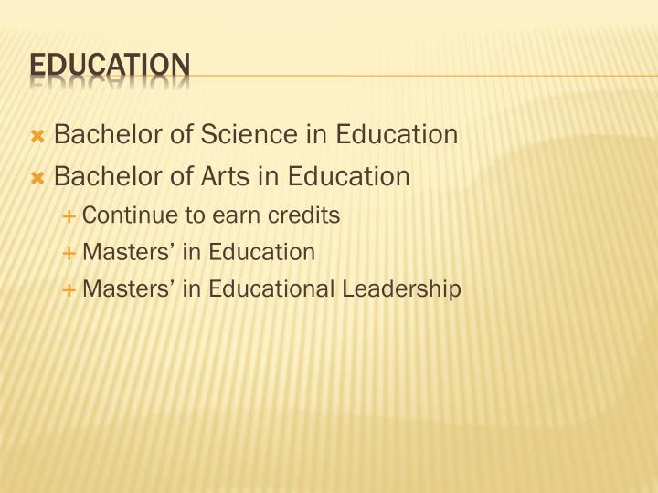 Bachelor of Science in Education