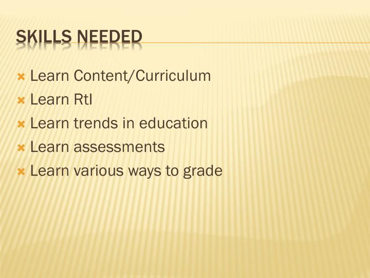 Learn Content/Curriculum