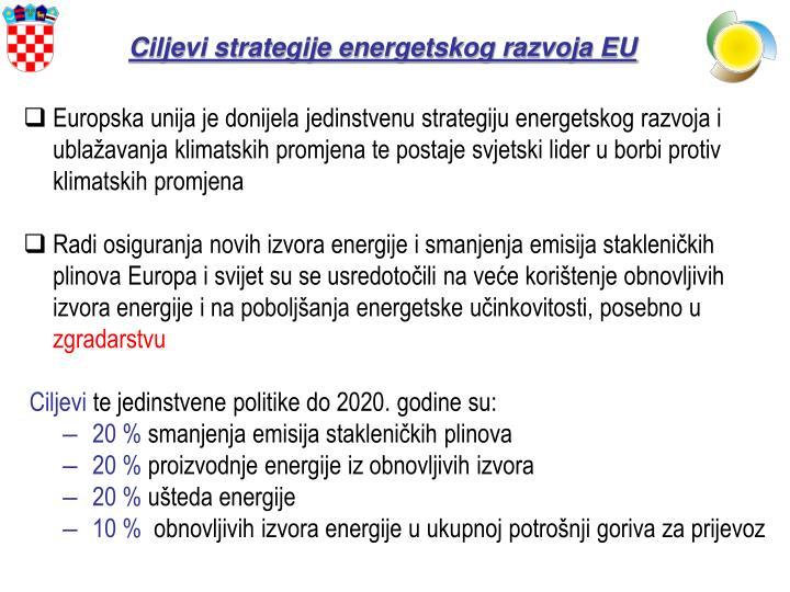 Ciljevi strategije energetskog razvoja EU