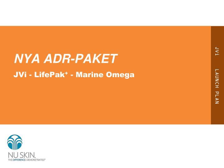 NYA ADR-PAKET