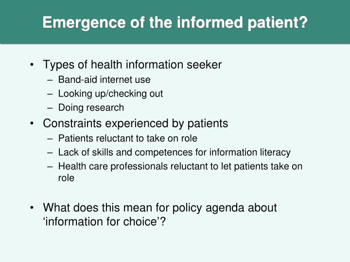 Types of health information seeker