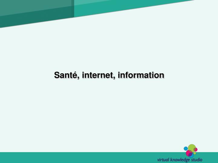 Santé, internet, information