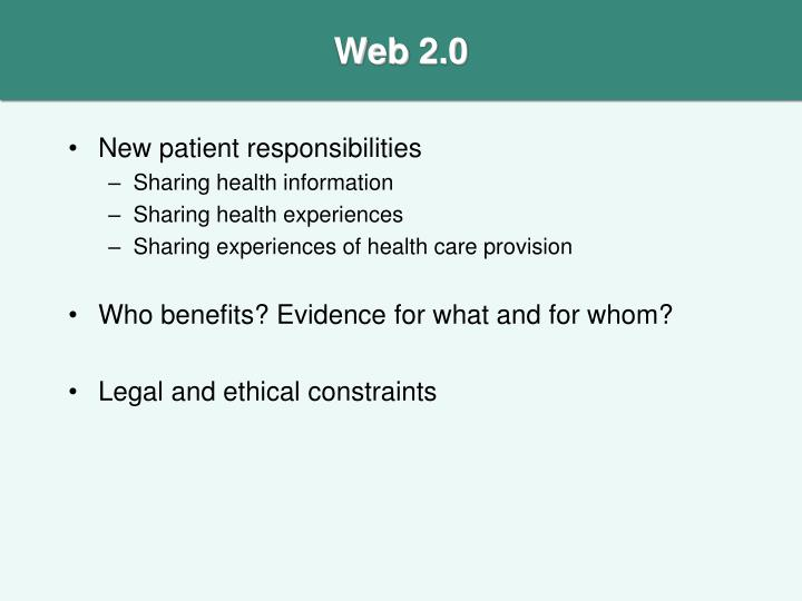 New patient responsibilities