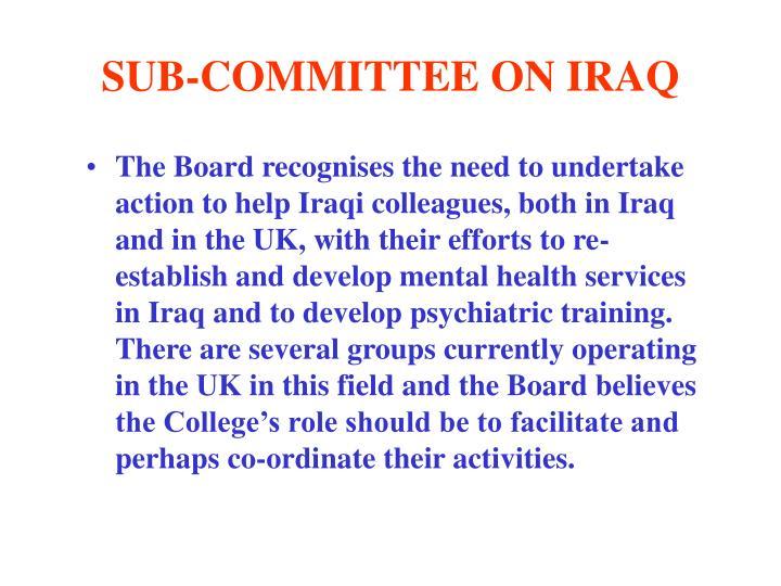 SUB-COMMITTEE ON IRAQ
