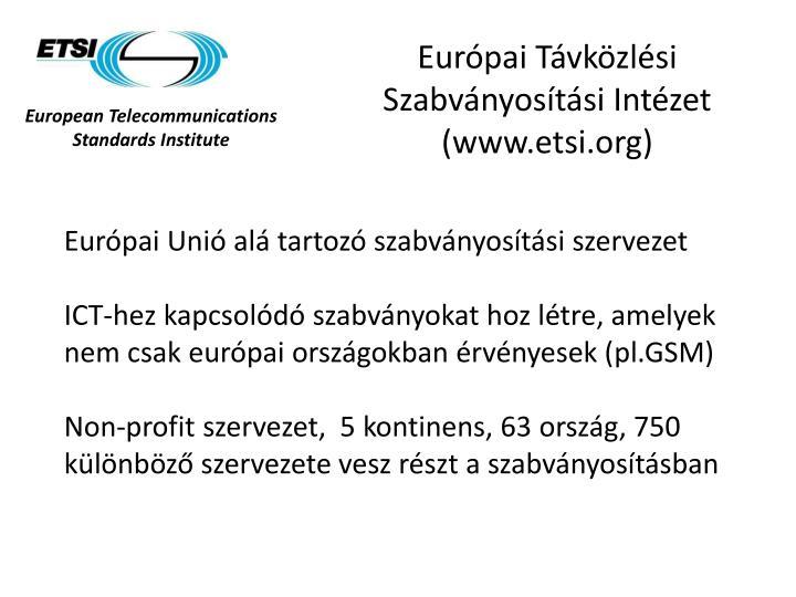 Európai Távközlési Szabványosítási Intézet