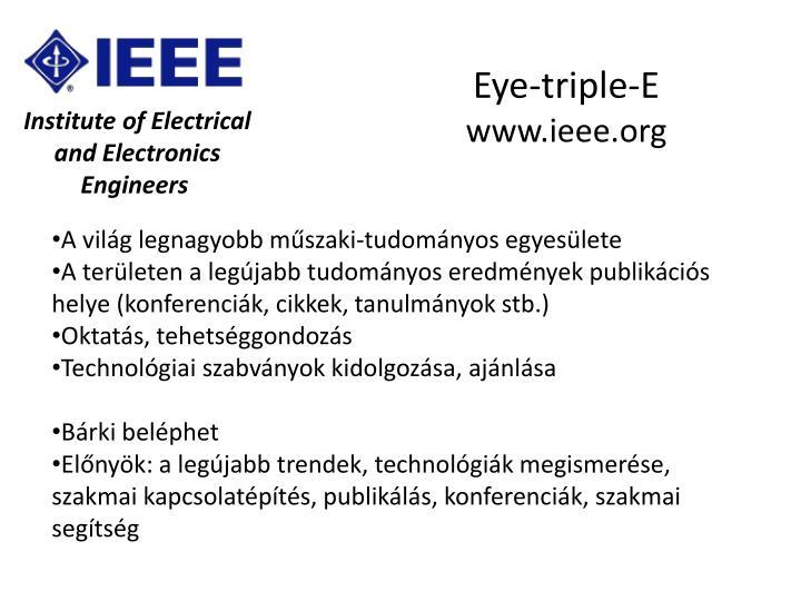 Eye-triple-E