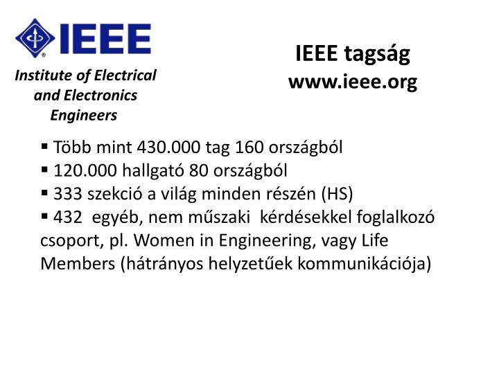 IEEE tagság